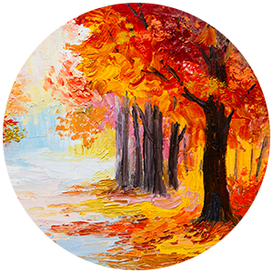 Golden Autumn Painting